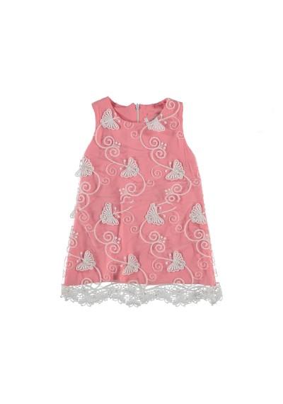 Lace φόρεμα με πεταλούδα κεντημένα