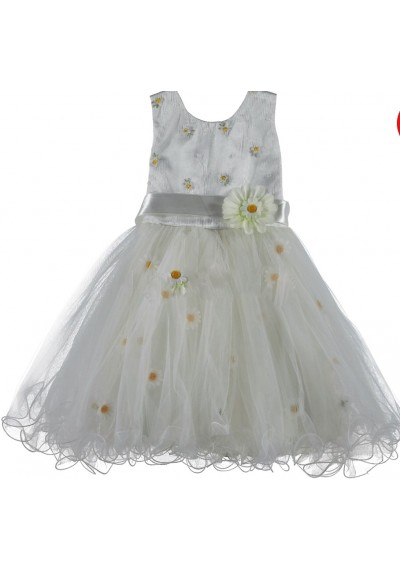 Charlotte  φόρεμα με μαργαρίτα και δαντέλα