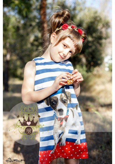Doggy Printed Summer Dress