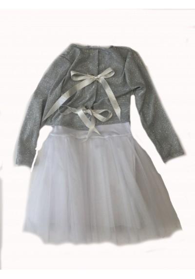 Luluby Ασημένιο τούτου φόρεμα με μπολερό