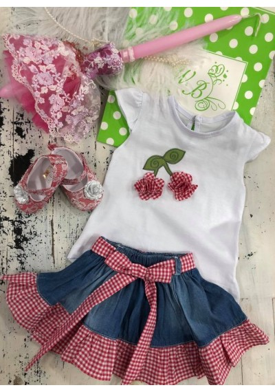 Cherry Baby Girl set