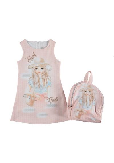 LULUby κορίτσι φόρεμα με τσάντα