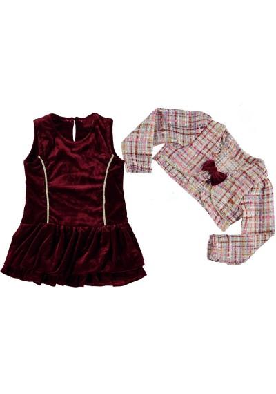 Tess Βελούδινο φόρεμα με μπολερό