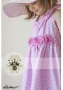 Σάντα Chevron Φόρεμα μακρύ