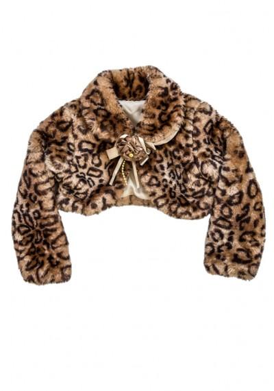 λεοπάρδαλη γούνα μπολερό