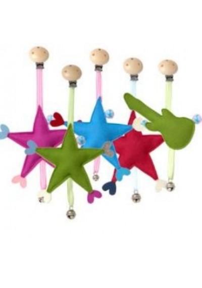 Κρεμαστό Αστέρι με Κουδουνάκι -Ροζ- Djou Djou Design
