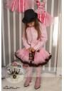 Petti φούστα ροζ-καφέ