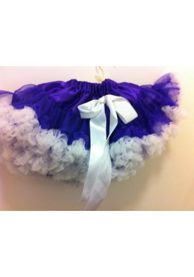 Petti φούστα μοβ λευκό